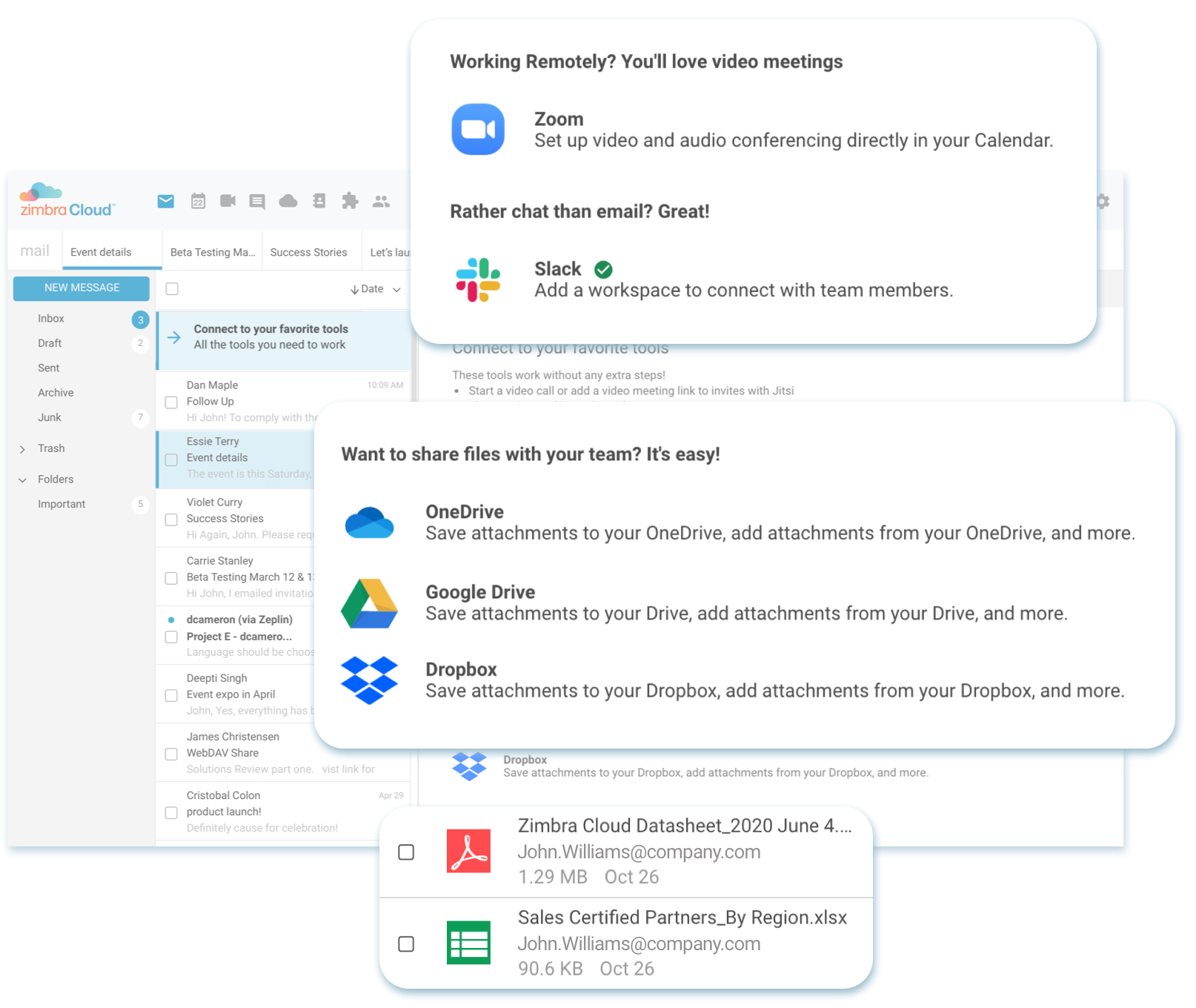 Get a Free Trial of Zimbra Cloud email client app, everything your business needs to succeed.